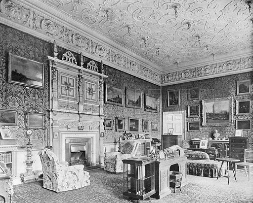 Lord Braybrooke's Room. Photograph in In English Homes Vol 1 (Country Life, 1904).