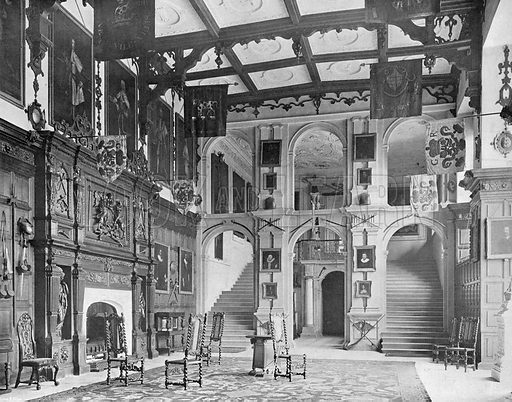 The Vanbrugh Screen in the Hall. Photograph in In English Homes Vol 1 (Country Life, 1904).