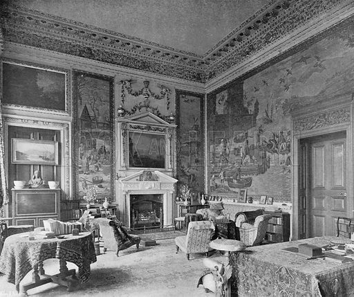 The Tapestry Room. Photograph in In English Homes Vol 1 (Country Life, 1904).