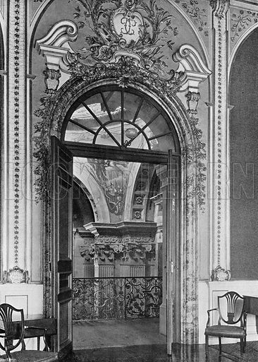 The High Saloon and Arching of the Hall. Photograph in In English Homes Vol 1 (Country Life, 1904).