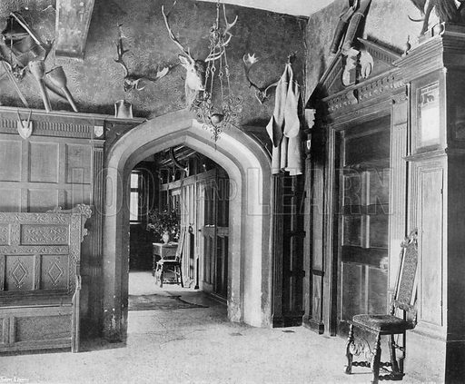 The South Entrance Hall. Photograph in In English Homes Vol 1 (Country Life, 1904).