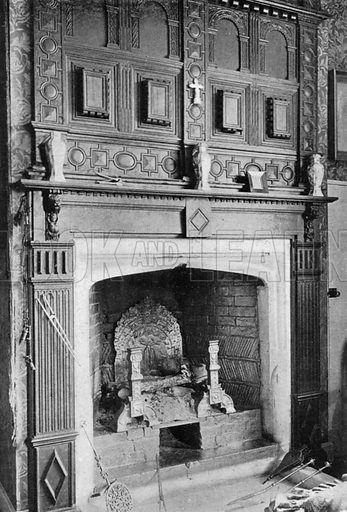 The Study Chimney-Piece. Photograph in In English Homes Vol 1 (Country Life, 1904).