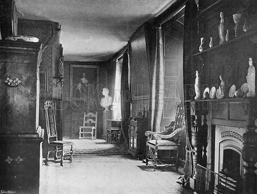 The East Gallery. Photograph in In English Homes Vol 1 (Country Life, 1904).