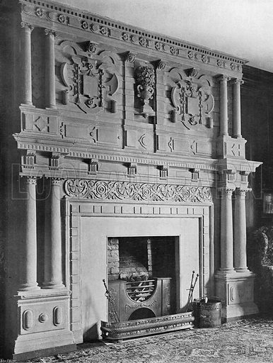 The Chimney-Piece in Dame Eleanor's Room. Photograph in In English Homes Vol 1 (Country Life, 1904).
