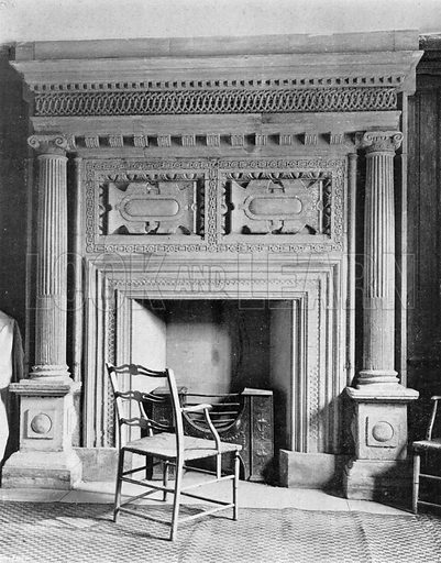 The Guest Chamber Chimney-Piece. Photograph in In English Homes Vol 1 (Country Life, 1904).