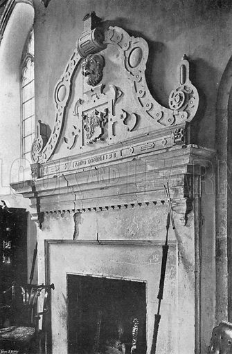 The Chimney-Piece of 1598. Photograph in In English Homes Vol 1 (Country Life, 1904).