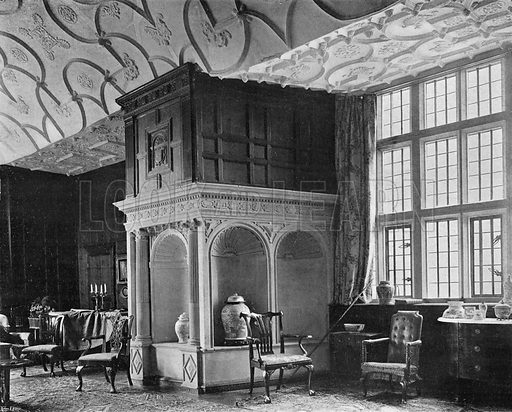 The Drawing-Room, North Side. Photograph in In English Homes Vol 1 (Country Life, 1904).