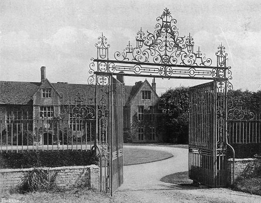 The House and Forecourt. Photograph in In English Homes Vol 1 (Country Life, 1904).