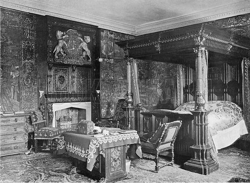 Sir George Savile's Room. Photograph in In English Homes Vol 1 (Country Life, 1904).