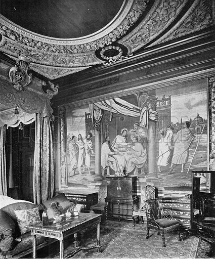 The State Bedroom. Photograph in In English Homes Vol 1 (Country Life, 1904).