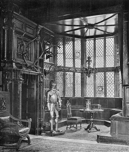 The Bay in the Hall. Photograph in In English Homes Vol 1 (Country Life, 1904).