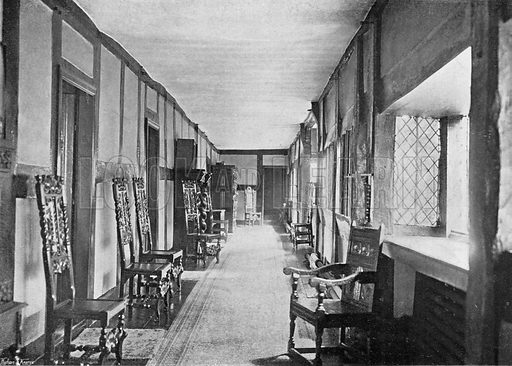 The North-East Gallery. Photograph in In English Homes Vol 1 (Country Life, 1904).
