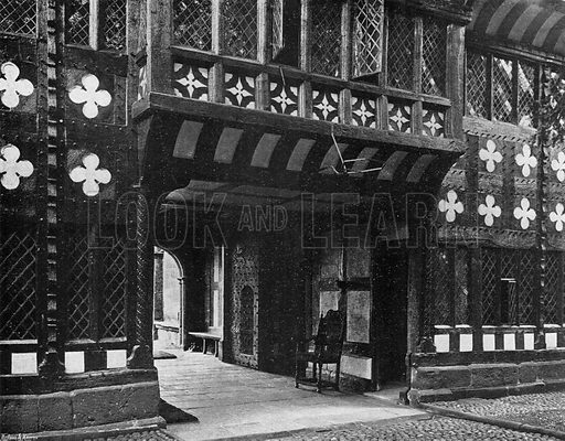 The Entrance Gate from within the Quadrangle. Photograph in In English Homes Vol 1 (Country Life, 1904).