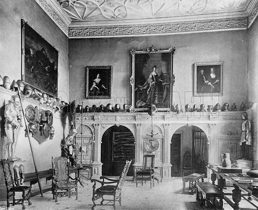 The Baron's Hall. Photograph in In English Homes Vol 1 (Country Life, 1904).
