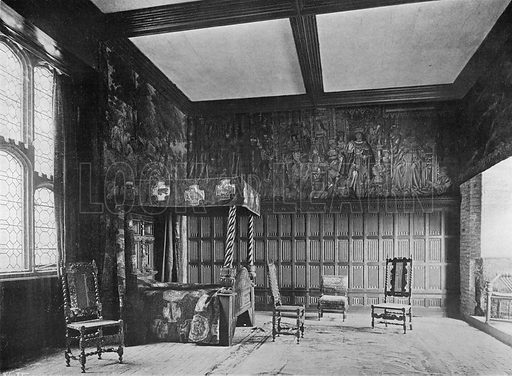 The King's Room. Photograph in In English Homes Vol 1 (Country Life, 1904).