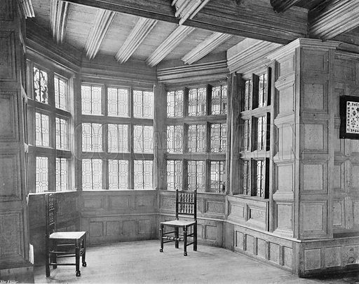 The Bay Window in the Drawing-Room. Photograph in In English Homes Vol 1 (Country Life, 1904).