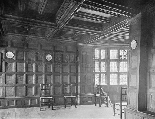 The Panelled Drawing-Room. Photograph in In English Homes Vol 1 (Country Life, 1904).