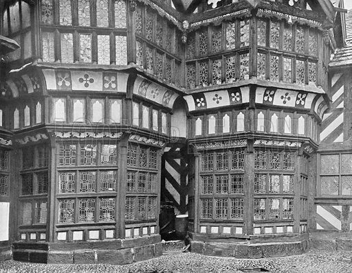 The Two Bays in the Courtyard. Photograph in In English Homes Vol 1 (Country Life, 1904).