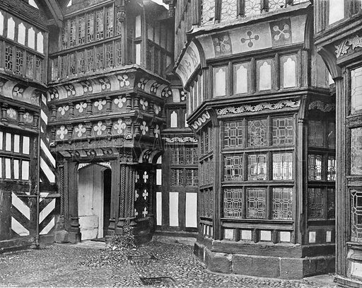 The Porch and Hall Window. Photograph in In English Homes Vol 1 (Country Life, 1904).