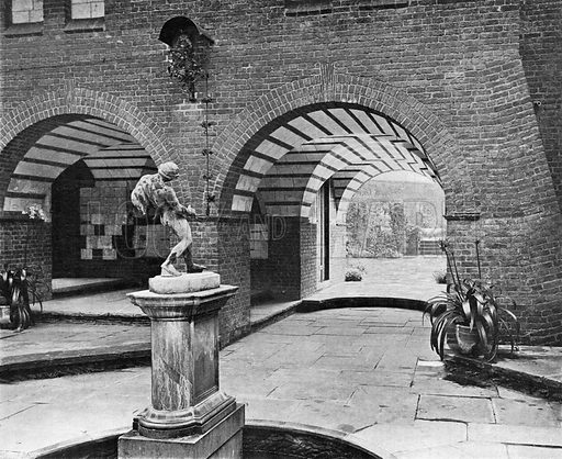 The Fountain Court. Photograph in In English Homes Vol 1 (Country Life, 1904).