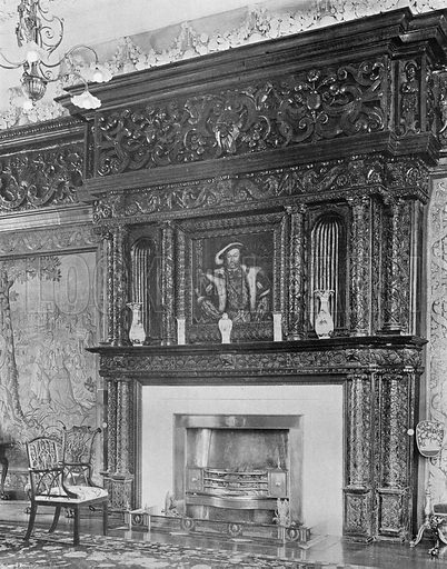 The Chimney-Piece in the Long Gallery. Photograph in In English Homes Vol 1 (Country Life, 1904).