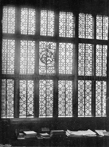 Window in the Great Hall. Photograph in In English Homes Vol 1 (Country Life, 1904).