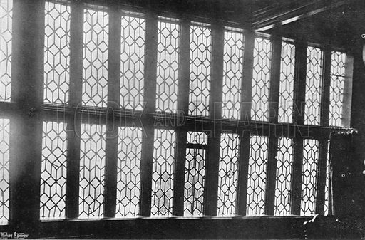 Old Lead-Lighted Windows. Photograph in In English Homes Vol 1 (Country Life, 1904).