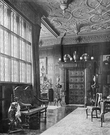 The Drawing-Room, West Side. Photograph in In English Homes Vol 1 (Country Life, 1904).