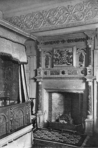 """The Doctor's Chamber."" Photograph in In English Homes Vol 1 (Country Life, 1904)."