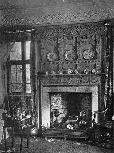 The White Parlour. Photograph in In English Homes Vol 1 (Country Life, 1904).