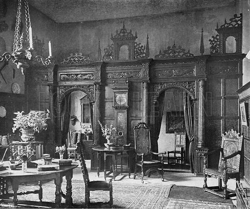 The Screen in the Hall. Photograph in In English Homes Vol 1 (Country Life, 1904).