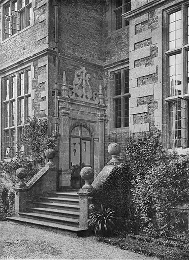 The Porch. Photograph in In English Homes Vol 1 (Country Life, 1904).