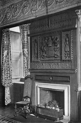 The Mantel-Piece in the State Room. Photograph in In English Homes Vol 1 (Country Life, 1904).