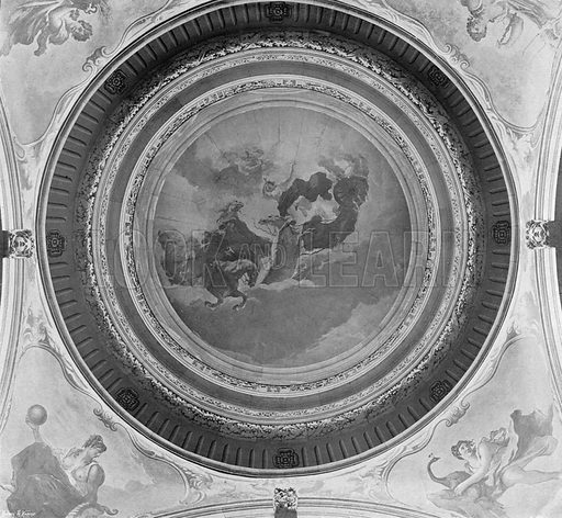 The Interior of the Cupola of the Hall. Photograph in In English Homes Vol 1 (Country Life, 1904).