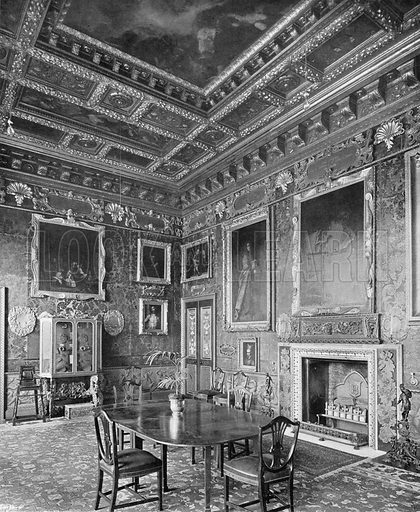 The Spanish Room. Photograph in In English Homes Vol 1 (Country Life, 1904).