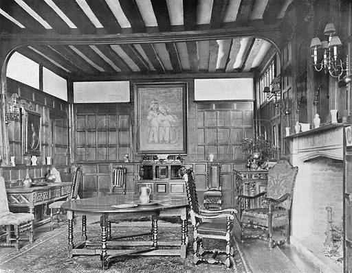 The Dining-Room. Photograph in In English Homes Vol 1 (Country Life, 1904).