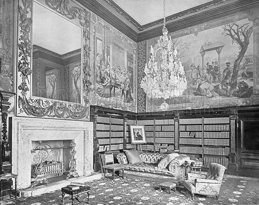 The Small Library. Photograph in In English Homes Vol 1 (Country Life, 1904).