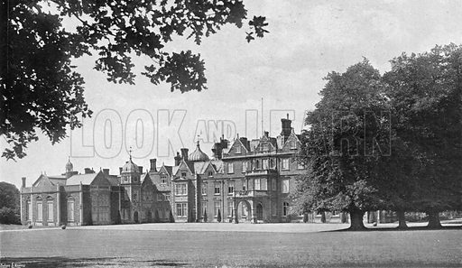 The East Front. Photograph in In English Homes Vol 1 (Country Life, 1904).
