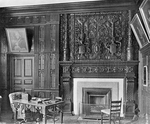 Lord Craven's Room. Photograph in In English Homes Vol 1 (Country Life, 1904).