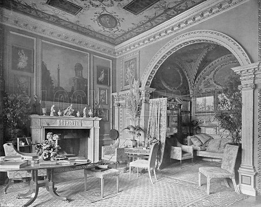 The Painted or Italian Room. Photograph in In English Homes Vol 1 (Country Life, 1904).