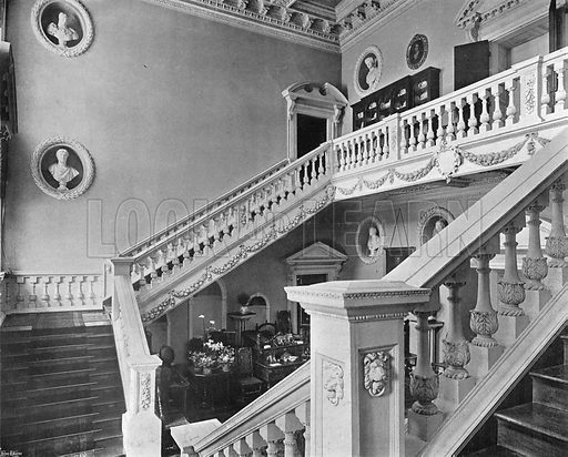 The Great Stairway. Photograph in In English Homes Vol 1 (Country Life, 1904).