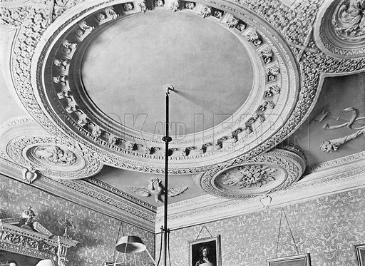 The Ceiling of the Billiard-Room. Photograph in In English Homes Vol 1 (Country Life, 1904).