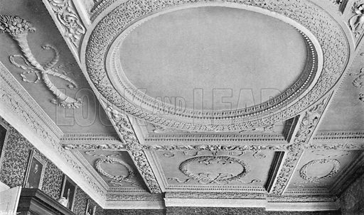 The Ceiling of the Drawing-Room. Photograph in In English Homes Vol 1 (Country Life, 1904).
