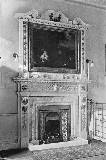 A Marble Chimney-Piece. Photograph in In English Homes Vol 1 (Country Life, 1904).