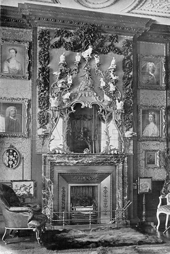 The Chimney-Piece in the Square Drawing-Room. Photograph in In English Homes Vol 1 (Country Life, 1904).