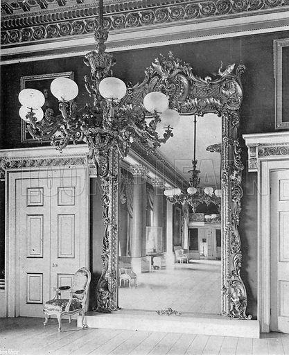 The Ballroom--A Reflection. Photograph in In English Homes Vol 1 (Country Life, 1904).