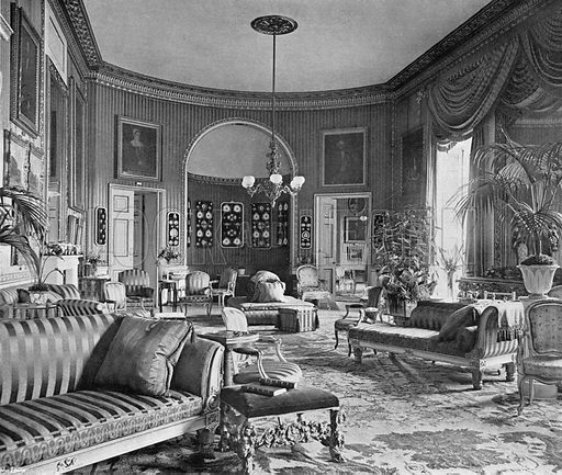 The Yellow Drawing-Room. Photograph in In English Homes Vol 1 (Country Life, 1904).