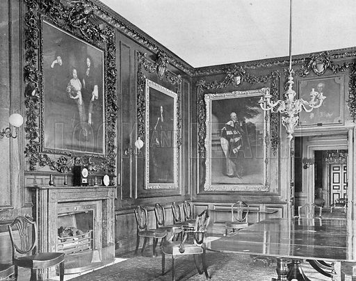 The Large Dining-Room. Photograph in In English Homes Vol 1 (Country Life, 1904).