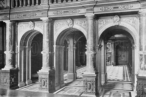 The Marble Hall. Photograph in In English Homes Vol 1 (Country Life, 1904).