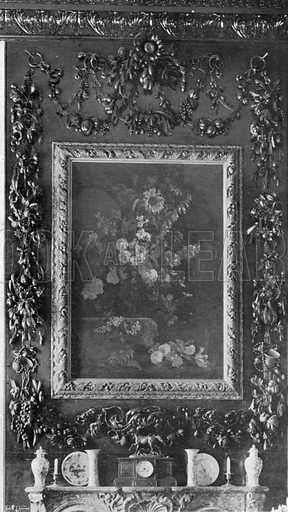 Carvings in the Library. Photograph in In English Homes Vol 1 (Country Life, 1904).